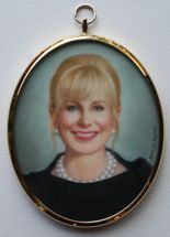 portrait miniature painting of Ann Scott