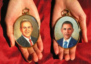 portrait miniature paintings of the American Presidents